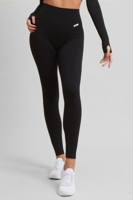 Leggings Push up Gym Fashion Street Nero