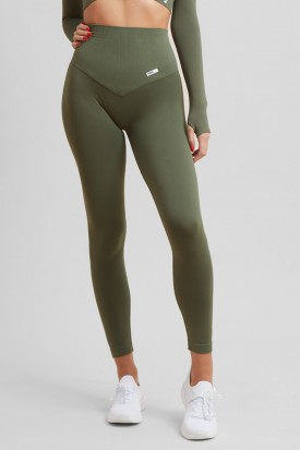 Leggings Push up Gym Fashion Verde Militare